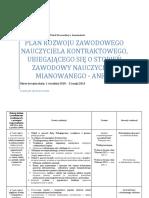 Plan Rozwoju Zawodowego Aneks 2013