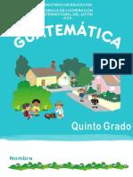 GUÍA DE MATEMÁTICAS PARA EL ALUMNO DE QUINTO GRADO