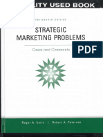 Strategic MKTG Problems Cover Table of Contents