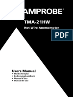 TMA 21HW Hot Wire Anemometer Manual