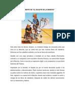 Argumento de la obra El Quijote de La Mancha