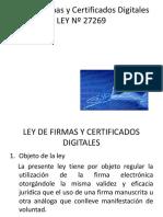 Ley de Firmas y Certificados Digitales LEY Nº -3
