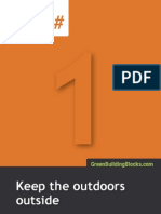 """5x7 """"green building tips"""" postcards"""