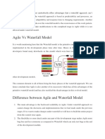 Agile vs Waterfall model