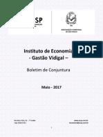 Boletim de Conjuntura ACSP - Maio 2017