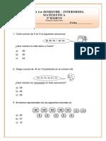 PRUEBA INTERMEDIA SEMESTRAL MATEMATICA 2° BASICO