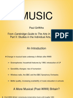 """Paul Griffiths_ """"Music"""" From Part II of Cambridge Guide to the Arts in Britain, Volume 9"""