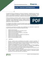 10. CAPITULO VII Plan de Contingencias