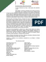 Pronunciamiento Por Los Niños de Cerro de Pasco - Plataforma Peruana de Copartes Tdh-Alemania