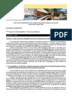 Concours Externe - Finances Publiques