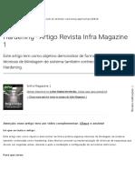 Hardening - Artigo Revista Infra Magazine 1
