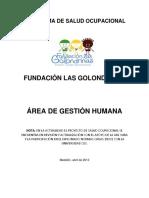 Programa de Salud Ocupacional Fundación Las Golondrinas