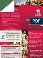 Diptico - Diplomado Historia Del Arte La Salle