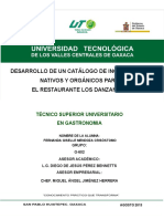 Catalogo de ingredientes nativos de Oaxaca