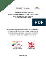 Proyecto Posadas Comuna Piritu Becerra