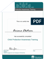 ekstrom a  child protection awareness training cert