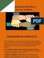 Apunte Estrategias Para Enfrentar o Resolver Un Conflicto