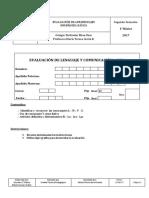 2° Ev. de lenguaje 1° Sem. 25-04 -17 Primero Básico remedial
