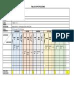 Tabla especificación prueba pulsaciones