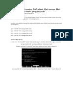 Membuat DNS Master, Slave, Mail, Web Server Beda Komputer