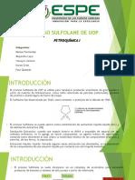 Proceso Sulfolane de Uop