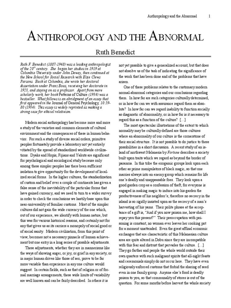 ruth benedict anthropology