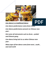 Lion Dance is a Traditional Dance