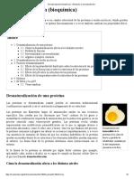Desnaturalización (Bioquímica) - Wikipedia, La Enciclopedia Libre