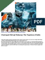 Chatrapati Shivaji Maharaj the Napoleon of India