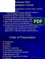 Business Plan Presentation Format - Chapter 03