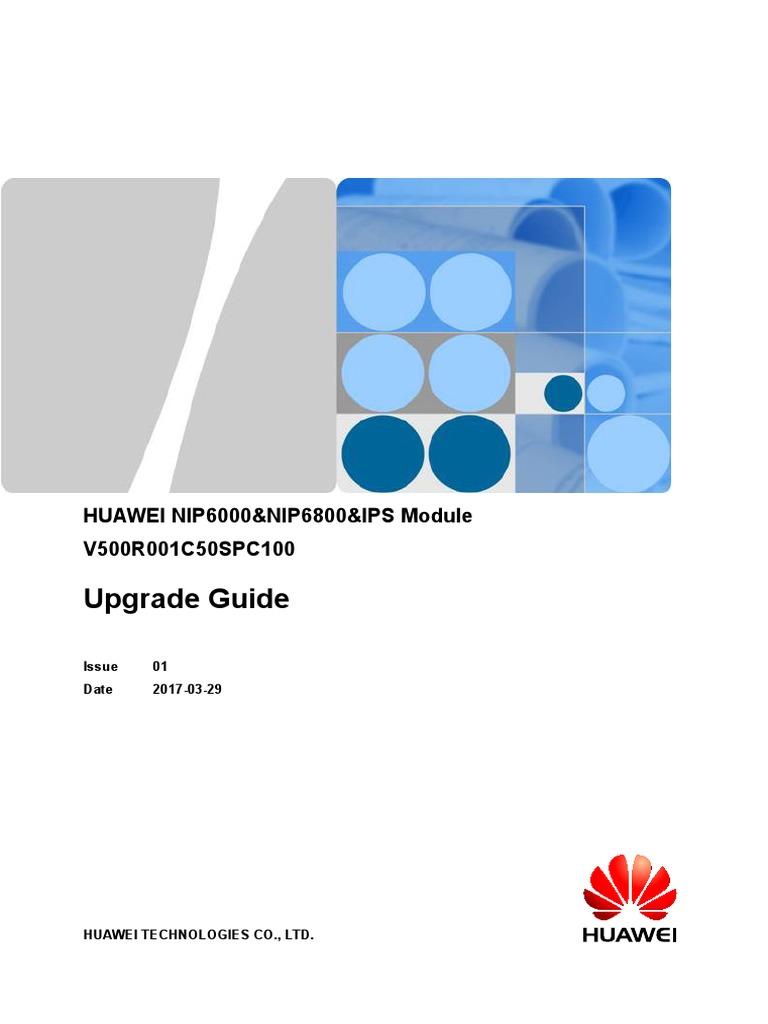 Huawei Nip6000&Nip6800&Ips Module v500r001c50spc100 Upgrade