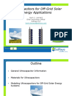 Ultracapacitors for Off-Grid Solar Applications