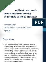 University of Alberta Collaboration Webinar on Community Interpreting  PPT.pdf