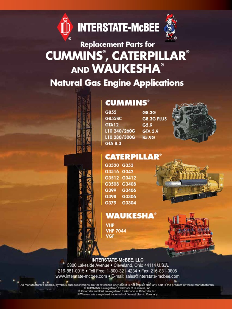 caterpillar g3520c gas engine