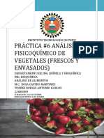 Análisis quimifico frutas