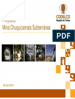 Presentaci n Proyecto Chuquicamata Subterr Nea Aaj