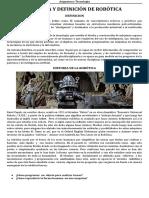 Definición e Historia de Robotica