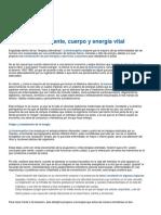 Bioenergetica Mente Cuerpo y Energia Vital