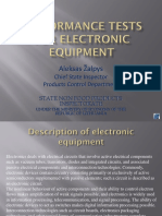 Performance Tests for Electronic Equipment_Mr ZALPYS