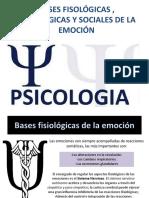 Bases Fisológicas , Psicológicas y Sociales de La