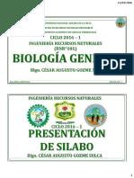 Biologia y Unidad  Silabos y Ciunas
