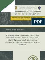 Factores fisiológicos y fisiopatológicos