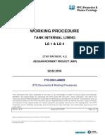 Working Procedure Ls1-Ls4
