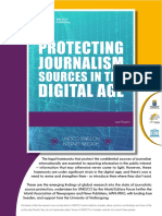 Protecting Journalism Sources in Digital Age