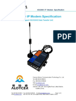 Alotcer AD2000 IP Modem Specification