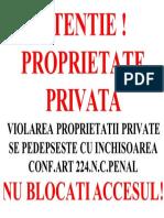 Atentie Prop Privata