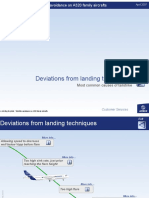 Deviations From Landing Techniques