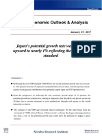 Mizuho Outlook - Japan Potential Growth Jan 2017