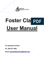 Foster Clamp User Manual Plus Additions