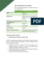 Aspectos Legales y Organización de La Empresa